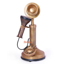 Artshai Antique Look Brass Brown Candlestick Telephone Showpiece for home decor