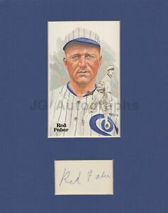 Red Faber - MLB Baseball, Hall of Fame - Signed Matted Display with HOF Card