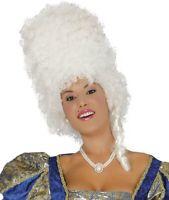 PERRUQUE Haute Blanche MARQUISE Déguisement Femme Reine Médiévale NEUF