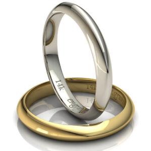 Knife Edge Comfort Wedding Band 14 karat Solid gold 3.00 mm Width Free Engraving