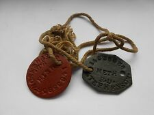 pair of british army identity discs  R D  STEPHENSON     general service corps