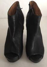 Jeffery Campbell Havana Last  Smudge Black Heels Size 9 Leather Handmade