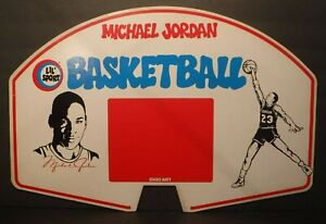 New Old Stock 1988 Ohio Art  Michael Jordan Lil Sport Basketball Backboard Bulls