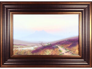 Dartmoor - antique watercolour / gouache painting - Ben Graham / Douglas Pinder