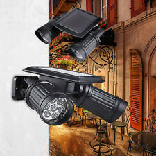 Adjustable 14 LED Solar Powered PIR Motion Sensor Dual Head Lights Spotlight