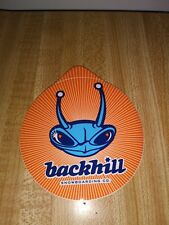 BACKHILL SKATEBOARD/SNOWBOAR CO. THE ALIEN BUG LOGO ROUND SKATEBOARD STICKER