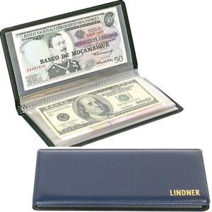 Taschenalbum 20 Seiten Banknoten Geldscheine Belege bis 175x85mm LINDNER S817