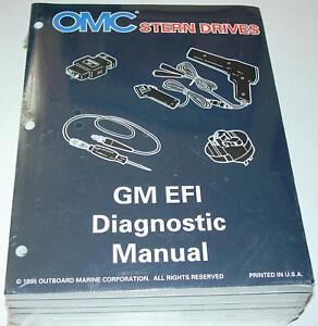 1996 OMC STERN DRIVE SERVICE MANUAL SET 6 MANUALS NEW