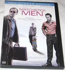 Matchstick Men, Nicolas Cage, Sam Rockwell DVD 2004 Full Frame U.S.A