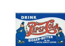 PEPSI - VINTAGE POSTER  - JUMBO FRIDGE MAGNET #1