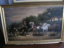 19c Student Study of The Horse Fair Oil Painting Reproduction Rosa Bonheur c1900