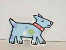 Jenny Jeff Faw Blue Dog Parade Best Friends Wall Decor Stick on w/ Suction Cup