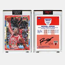Jordan 1996 Fleer Rookie Card Tongue Dunk Art Diamond Dust RENCY Ltd & S/N of 23