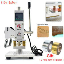 Hot Foil Stamping Machine 5x7cm 110V Digital Embossing Machine for PVC Leather
