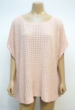 Chicos Womens Large / XL Sweater Thin Cotton Linen Loose Dolman Knit Top Peach