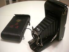 EASTMAN KODAK NO 3 A AUTOGRAPHIC Model C Folding Bellows Camera WITH CASE-NICE!