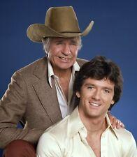 DALLAS - TV SHOW PHOTO #E-2 - JIM DAVIS + PATRICK DUFFY