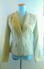 Ann Taylor LOFT Tan Suede One Button Blazer Jacket Size 4