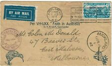 New ListingNew Zealand 1934 Auckland cancel on first flight cover to Australia, Sg 554