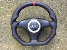 AUDI A4 S4 B5 A6 S6 C4 A8 TT MK1 8N0 NEW FLAT BOTTOM CUSTOM MADE STEERING WHEEL