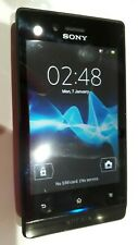 SONY XPERIA MIRO ST23i MOBILE SMART PHONE + mains adapt + earpads + original box