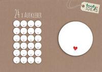 """24 x Geschenkaufkleber """"...ohne Text"""" 40mm weiß Etiketten Aufkleber"""