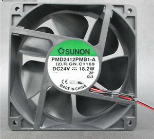 SUNON PMD2412PMB1-A 12038 12CM 24V 18.2W 2-pin inverter fan