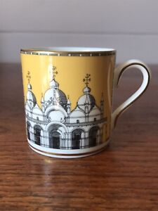 Vintage Wedgwood Porcelain Grand Tour Collection Orphan Demitasse Coffee Cup