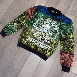 NOS Vtg 80s 90s Beach Sweatshirt Crew Neck shirt Skate Surf Neon USA Youth Large