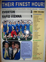 Everton 3 Rapid Vienna 1 - 1985 European Cup Winners' Cup final - souvenir print