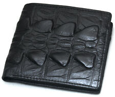 Mens Leather Wallet Bifold Credit Card Holders Coin Zippered Purse Black F5014B