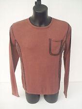 T-shirt Roberto Cavalli,Girocollo,inserti in pelle,colore bruciato,tg 50