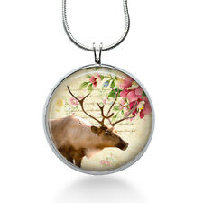 Country Chic Deer Pendant Necklace, Deer Pendant, Animal, fashion jewelry, gifts