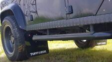 Land Rover Defender 110 Front Mud Flap set tdi Td5 puma gloss black