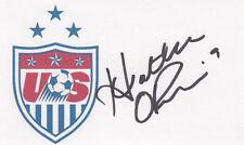 Heather O'Reilly 2015 Usa Women's World Cup Fifa Gold Medal Signed 3x5 Card
