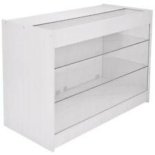 Lockable Retail Glass Shelf Cabinet / Lilac White Store Showcase Counter - K1200