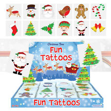 36 Childrens Christmas Tattoos Party Bag Toy Fillers Stocking Filler School Gift