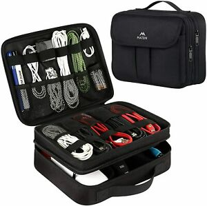 """Matein 11"""" Electronics Accessories Organizer Travel Storage Bag Cable USB Case"""