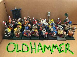 Vintage OLDHAMMER DWARVES Multi-listing lot Citadel OOP Warhammer Dwarf D&D