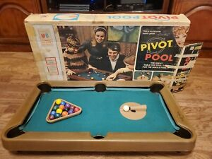 Vintage 1972 Milton Bradley Pivot Shooter Pool Tabletop Game Original Box