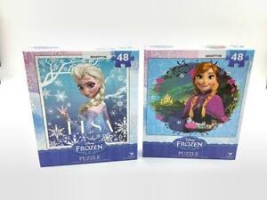 Disney Frozen Jigsaw Puzzle Elsa Princess & Anna 48 Piece 2 Packs