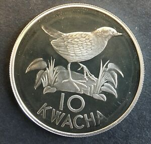 Zambia - Silver 10 Kwacha Coin - 'WWF' - 1986 - Proof