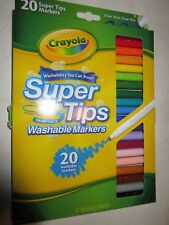 Crayola Super Tip Markers Washable 20 pack free postage