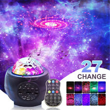Bluetooth USB LED Galaxy Projector Starry Ocean Wave Night Lamp Star Projection