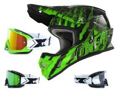 Oneal 3Series Mercury Kinder Crosshelm mit TWO-X Race Crossbrille MX Enduro