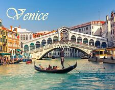 Italy - VENICE - RIALTO BRIDGE - Travel Souvenir Flexible Fridge MAGNET