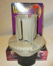 1998 NOS Wizard Adjustable Cup Drink Holder Tan Vehicles Clamp Holds Up To 64 Oz