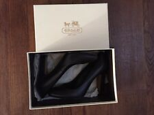 Coach Women's Shoes Black Leather Signature Embossed Pumps Size 8M