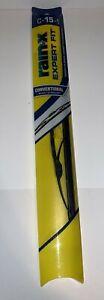 Rain X Expert Fit Windshield Wiper Blade C-15-1 New in Box! Conventional Wiper