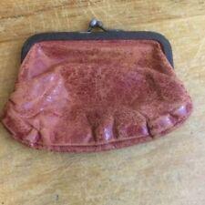 Accessoires vintage rouges en cuir femme